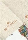 Krem 2li Etnik Desen Detaylı Havlu Seti