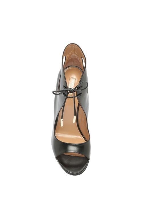 Crisi Siyah Kadın Deri Sandalet