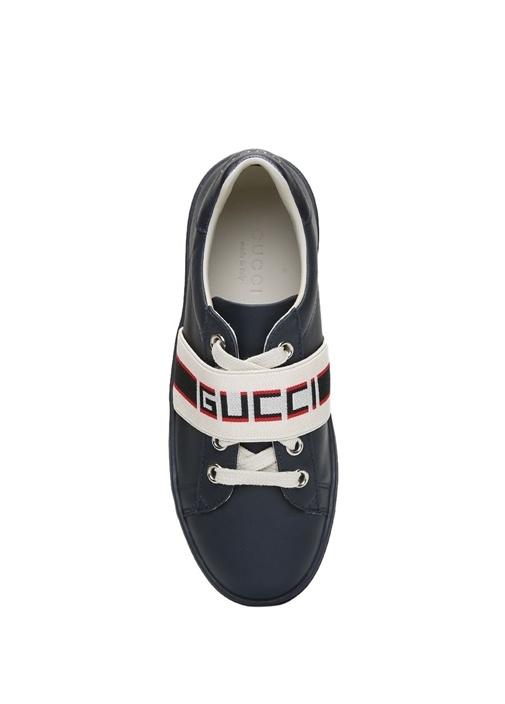 Siyah Logo Bantlı Unisex Çocuk Sneaker