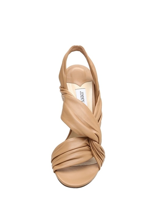 Lalia Taba Düğüm Detaylı Kadın Deri Sandalet
