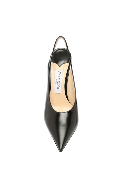 Ivy 85 Siyah Deri Topuklu Ayakkabı