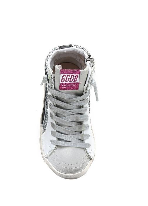 Silver Pulpayetli Eskitmeli Kız Çocuk Sneaker