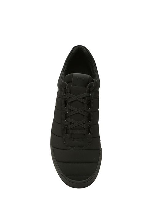 Ribbed Siyah Dikiş Detaylı Erkek Sneaker