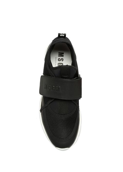 Velcro Siyah File Dokulu Kadın Sneaker