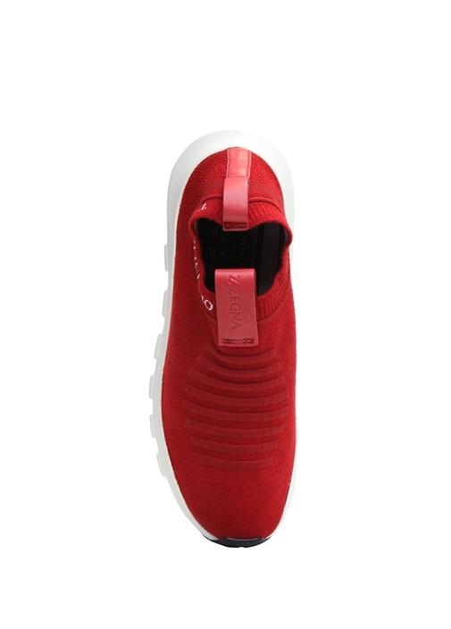 Kırmızı Techmerino Özellikli Erkek Yün Sneaker