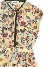 Sarı Çiçek Desenli Fisto Detaylı Kız Çocuk Elbise