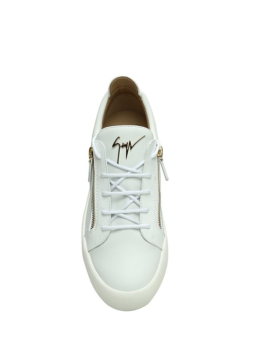 Nicki Beyaz Gold Kadın Deri Sneaker