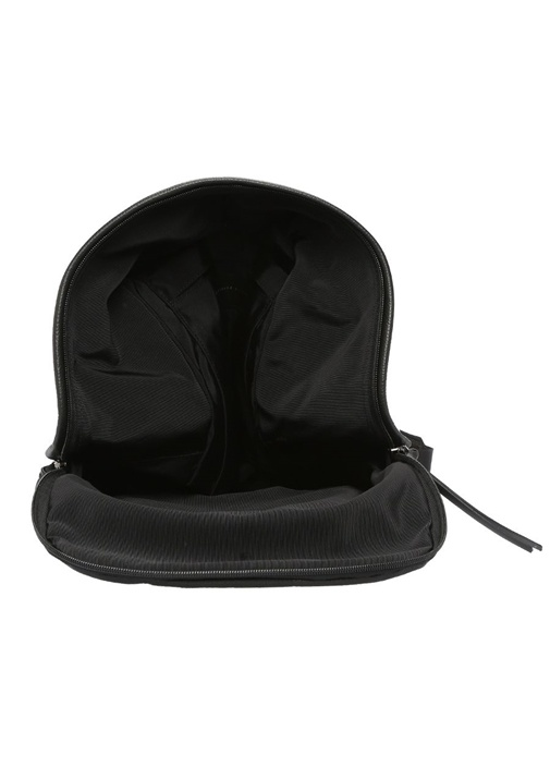 Siyah Dokulu Logolu Erkek Deri Sırt Çantası