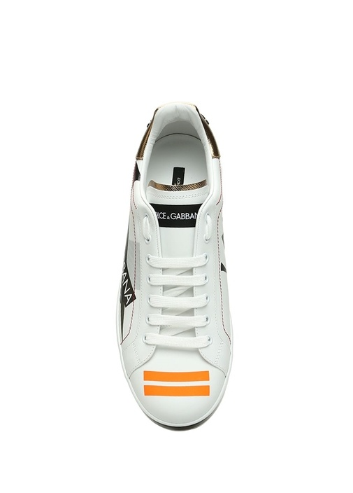 Portofino Beyaz Baskılı Erkek Deri Sneaker