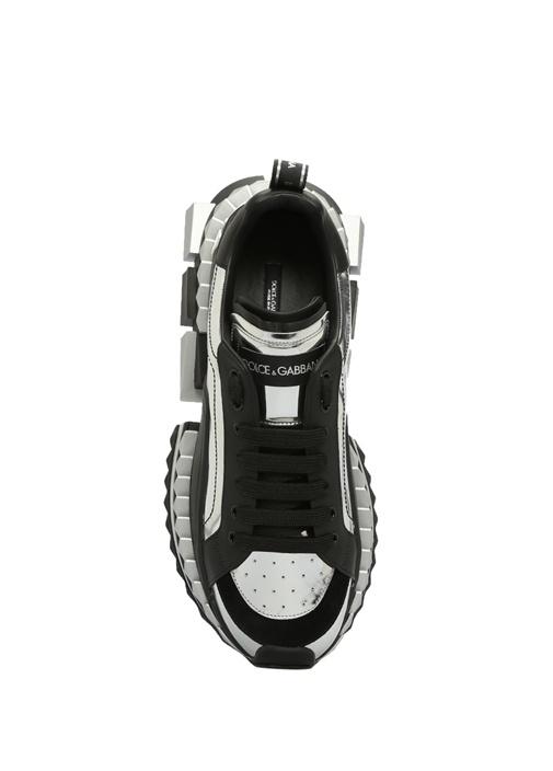 Superkıng Siyah Metalik Gri Bloklu Erkek Sneaker