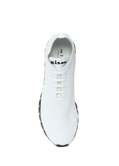 Beyaz Logo Nakışlı Dokulu Erkek Sneaker