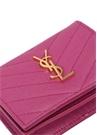 Monogramme Mor Gold Logolu Kadın Deri Kartlık