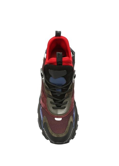 Bounce Bordo Siyah Bloklu Logolu Erkek Sneaker
