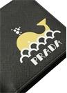 Siyah Logo Baskılı Erkek Deri Cüzdan