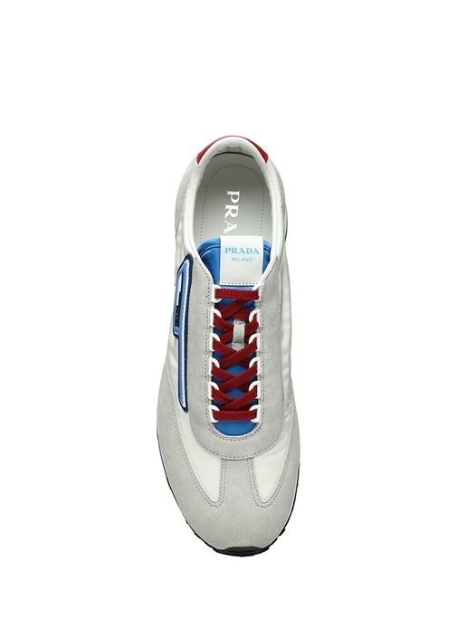 Gri Mavi Logolu Erkek Sneaker