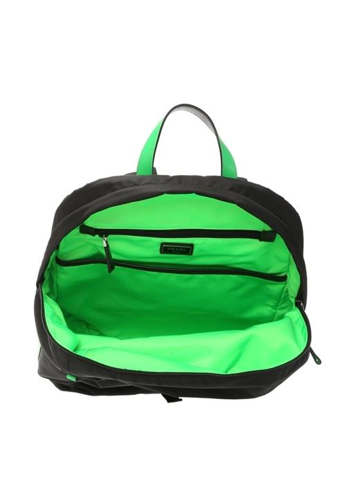 Siyah Neon Yeşil Logolu Erkek Sırt Çantası