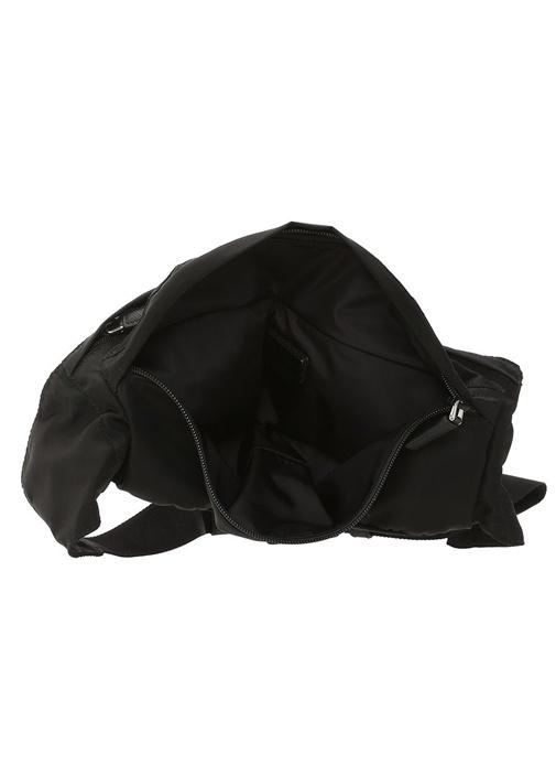 Siyah Silver Logolu Erkek Bel Çantası