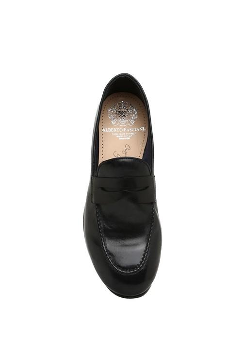 Lacivert Bantlı Erkek Deri Ayakkabı