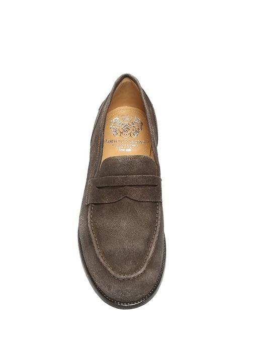 Kahverengi Bantlı Erkek Süet Ayakkabı