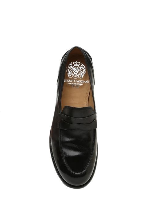 Siyah Bantlı Erkek Deri Ayakkabı