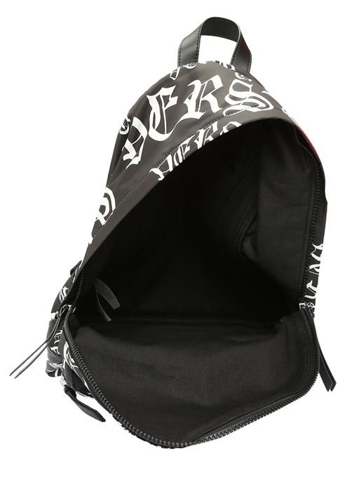 Medusa Siyah Beyaz Logo Baskılı Erkek Sırt Çantası