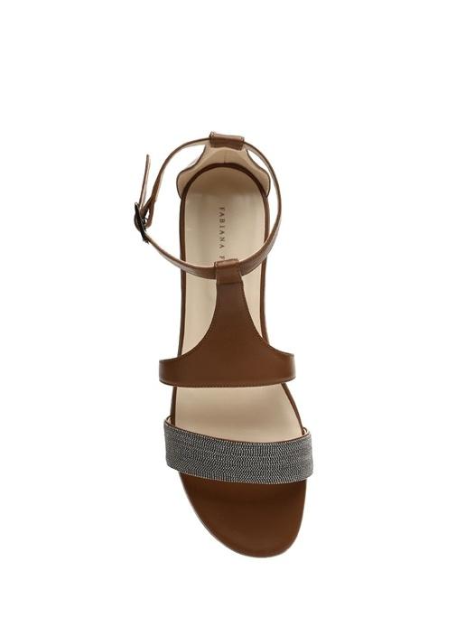 Federica Taba İnce Zincirli Kadın Deri Sandalet