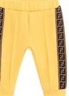 Sarı Yanı Şerit Logolu Erkek Bebek Jogger Pantolon