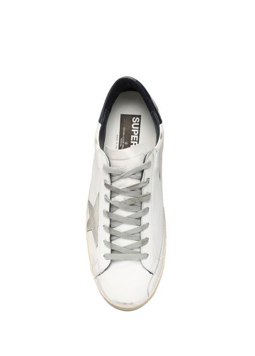 Superstar Beyaz Lacivert Erkek Deri Sneaker