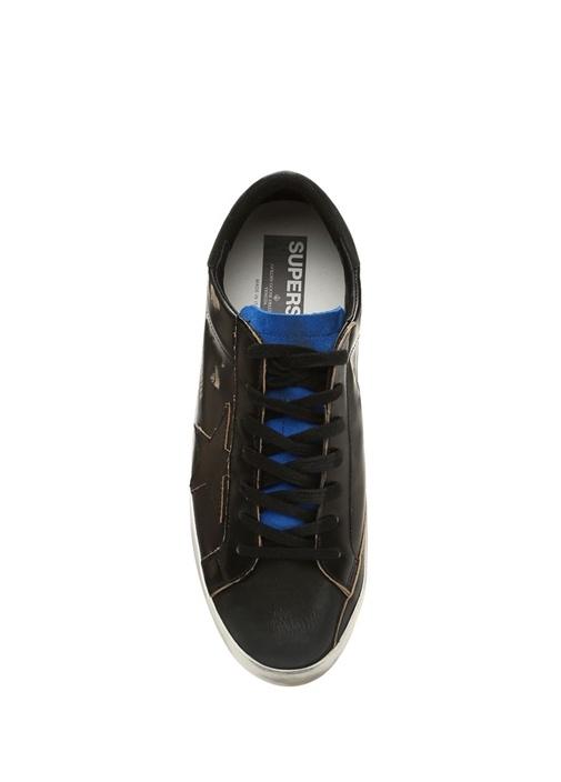 Superstar Siyah Erkek Deri Sneaker