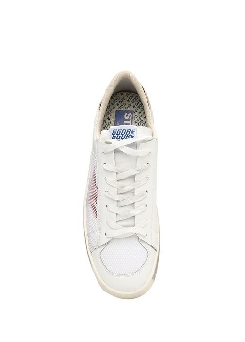 Stardan Beyaz Gold Erkek Deri Sneaker