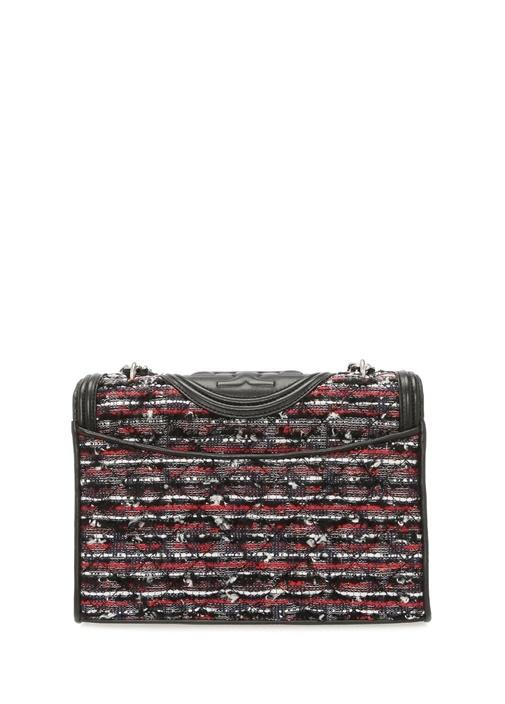 Fleming Siyah Örgü Dokulu Kadın Tweed Çanta