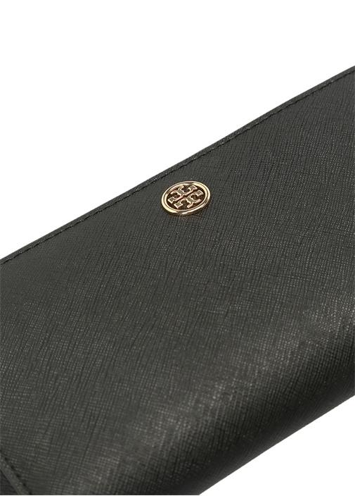 Siyah Gold Logolu Kadın Deri Cüzdan