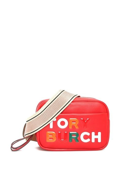 Perry Kırmızı Logolu Kadın Deri Omuz Çantası