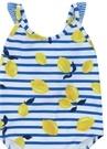 Mavi Sarı Limon Baskılı Kız Çocuk Mayo