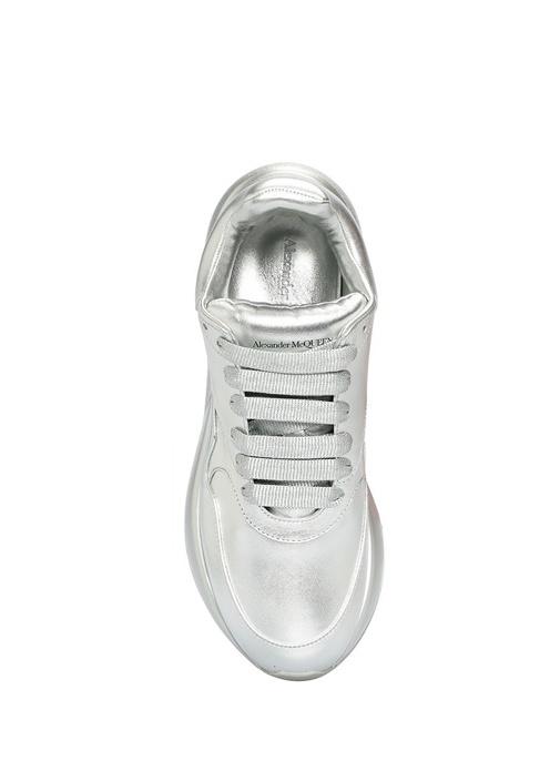 Oversize Silver Kadın Deri Sneaker