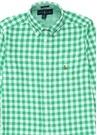 Yeşil Beyaz Kareli Erkek Çocuk Gömlek