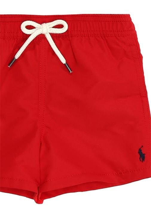 Kırmızı Logo Nakışlı Erkek Bebek Mayo