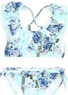 Nannas House Mavi Kız Çocuk Bikini Takımı
