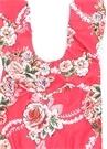 Pembe Çiçek Baskılı Fırfırlı Kız Çocuk Mayo