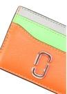 Neon Turuncu Silver Logolu Kadın Deri Kartlık