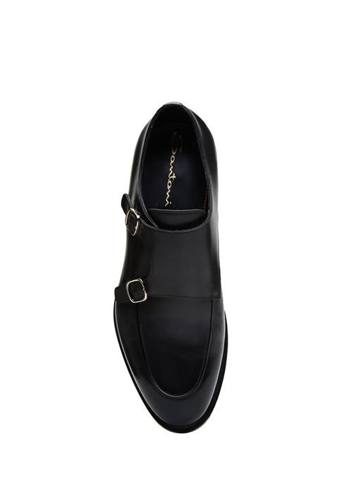 Antrasit Çift Kemer Detaylı Erkek Deri Ayakkabı