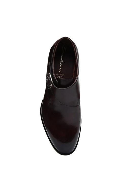 Kahverengi Kemer Detaylı Erkek Deri Ayakkabı