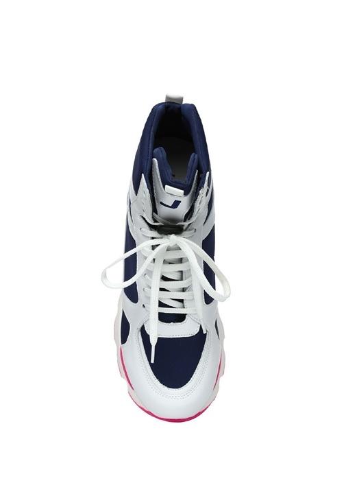 Hydro Diana Lacivert Beyaz Kadın Keten Sneaker