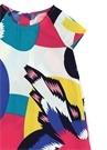 Colorblocked Beli Kuşaklı Kız Çocuk Elbise