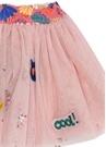 Pembe Beli Kıvrımlı Pulpayetli Kız Çocuk Tül Etek