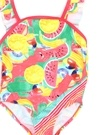 Pembe Meyve Baskılı Fırfırlı Kız Çocuk Mayo