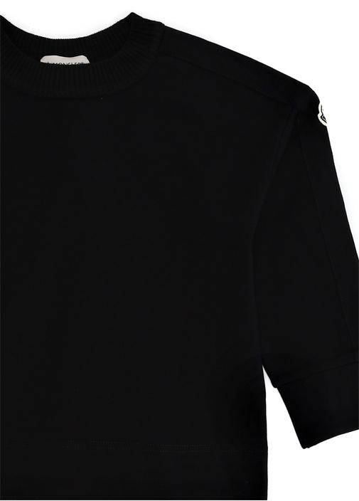 Lacivert Arkası Tül Detaylı Kız Çocuk Sweatshirt