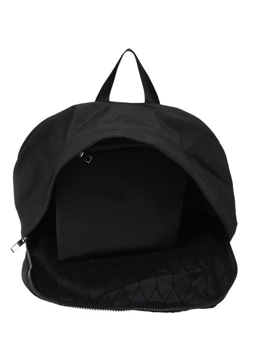 Siyah Kaplan Nakışlı Logolu Erkek Sırt Çantası