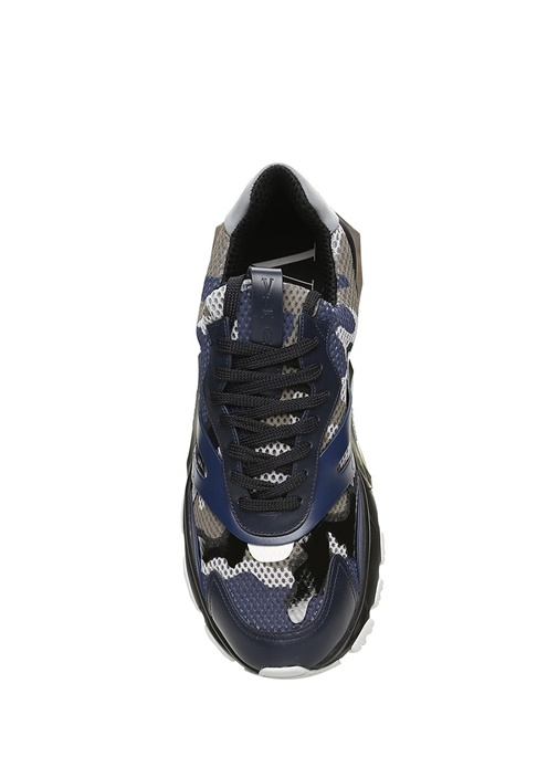 Bounce Lacivert Kamuflajlı Erkek Deri Sneaker