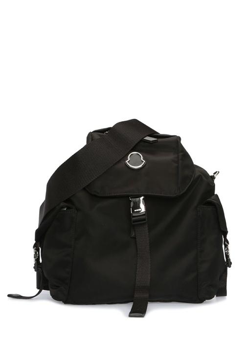 Dauphine Siyah Logolu Kadın Sırt Çantası